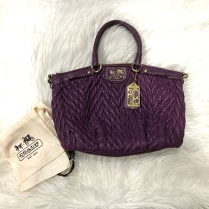 Coach Purple 70th Anniversary Satchel